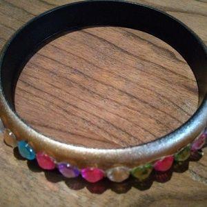 Jewelry - Goldtone bracelet w multi-color stones